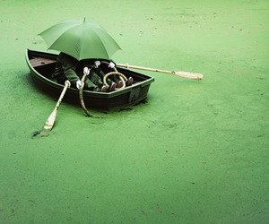 green, boat, and photography image
