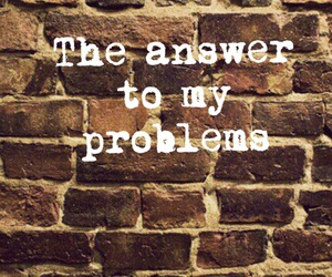 brick wall, problem, and sad image