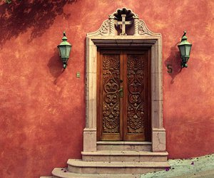 door, mexico, and house image