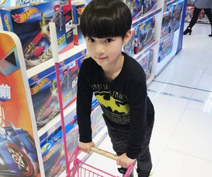 asian, baby, and batman image