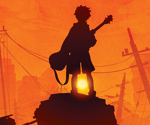 guitar, sunset, and anime image