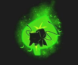 black, green, and pokemon image