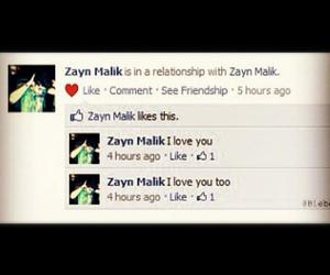 one direction, zayn malik, and facebook image