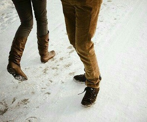 snow, winter, and legs image