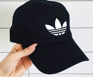 adidas, black, and nails image