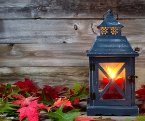 autumn, leaves, and candle image