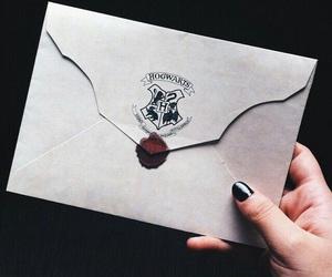 harry potter, hogwarts, and hogwarts letter image