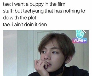 v, bts, and funny image