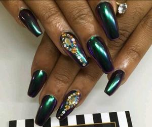 chrome, girl, and nails image