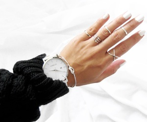 watch, nails, and rings image