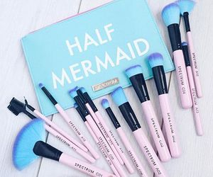 makeup, Brushes, and mermaid image