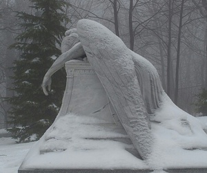 angel, snow, and sad image