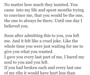 heartbreak, quote, and betrayal image