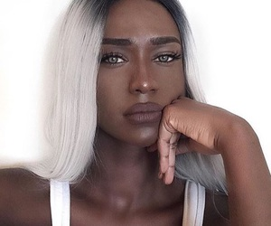 gorgeous, makeup, and gray image
