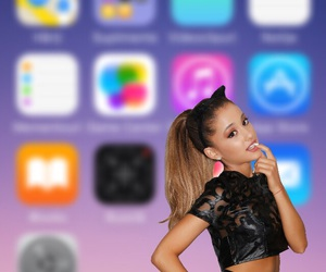 iphone, ariana, and lockscreen image