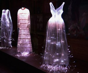 dress, fashion, and light image
