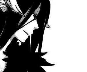 hades, manga, and monochrome image