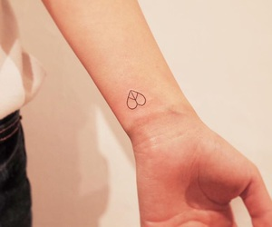 heart, small, and tattoo image