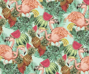 patterns, pineapple, and tropical image