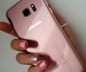fashion, samsung, and pink gold image