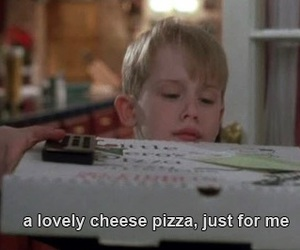 pizza, home alone, and food image