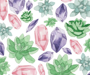 cristal, patterns, and plants image