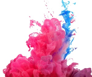 pink, blue, and wallpaper image