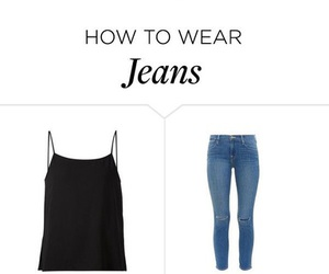 jeans, outfit, and Polyvore image