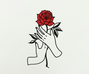 rose, art, and red image