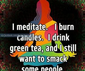 meditate, quotes, and yoga image