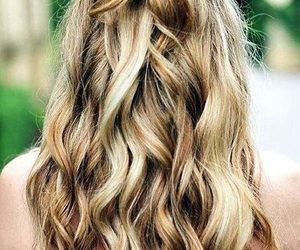 blond, hair, and hair bow image