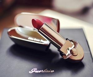 lipstick, makeup, and guerlain image