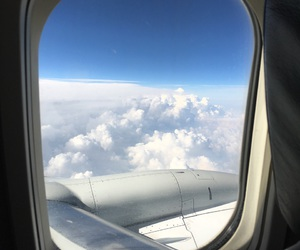 adventure, blue skies, and clouds image