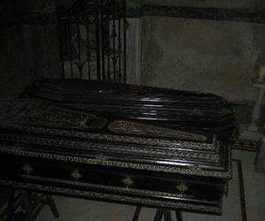 black, coffin, and dark image