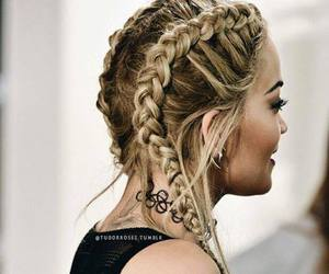braid, hair, and rita ora image