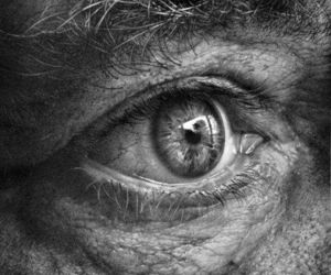 art, hyperrealistic, and black and white image