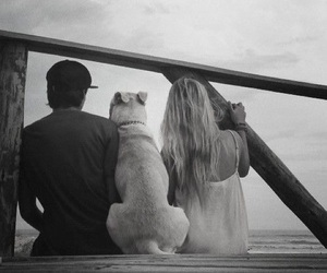 couple, dog, and love image
