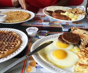 breakfast, eggs, and sausage image