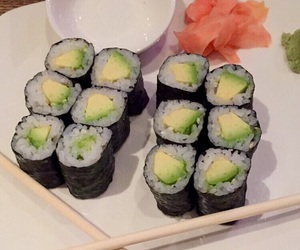 avocado, sushi, and tumblr image