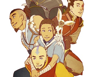 aang, avatar, and zuko image