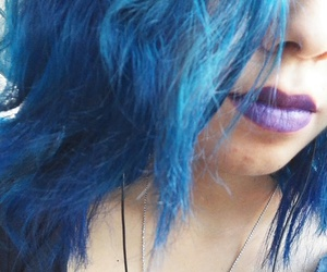 blue, lips, and purple image