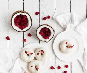 chocolate, donuts, and raspberry image