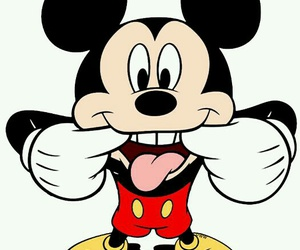 cheeky, mickey mouse, and wallpaper image