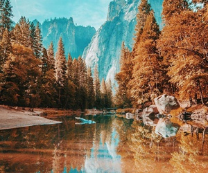 nature, autumn, and water image