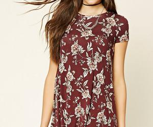 burgundy, skater, and dress image