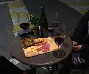 dark, food, and wine image
