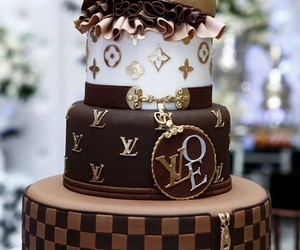 cake, Louis Vuitton, and LV image