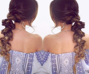 braid, curly, and fashion image