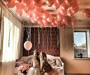 girl, love, and balloons image