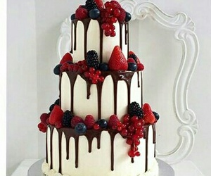 strawberry, cake, and delicious image